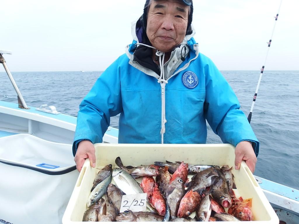 大漁でニッコリ!