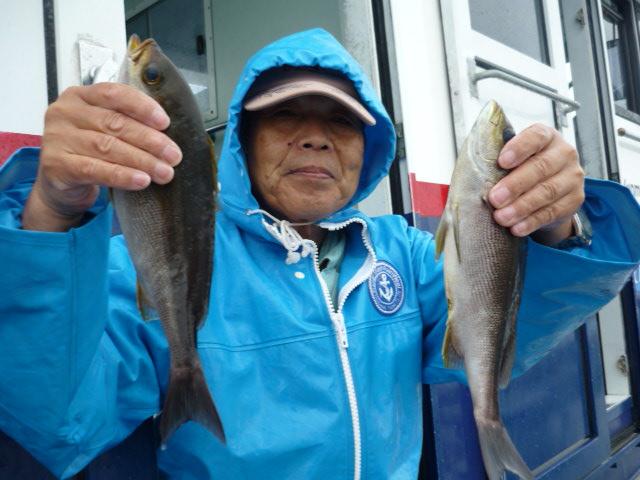 雨でも釣れたから気持ちは晴れ晴れ!