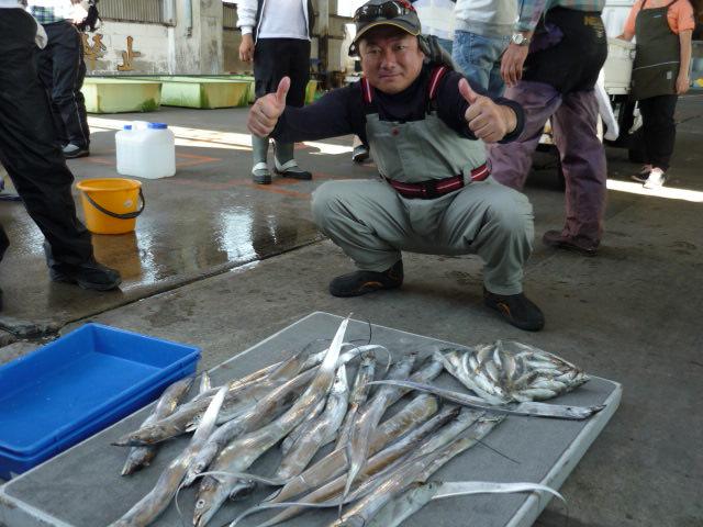 イカ釣りマスタ-の片山さん!タチウオは久しぶり!