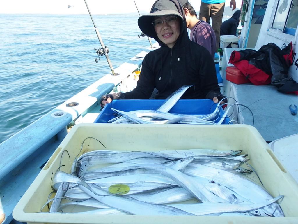 タチウオを釣り過ぎた!
