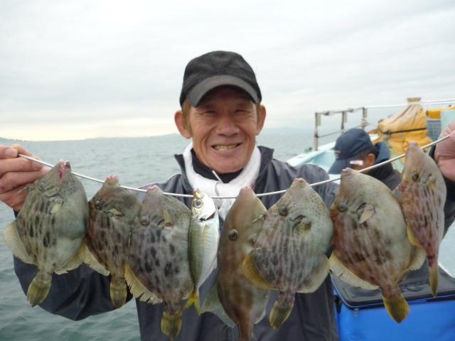 カワハギ釣り過ぎ!