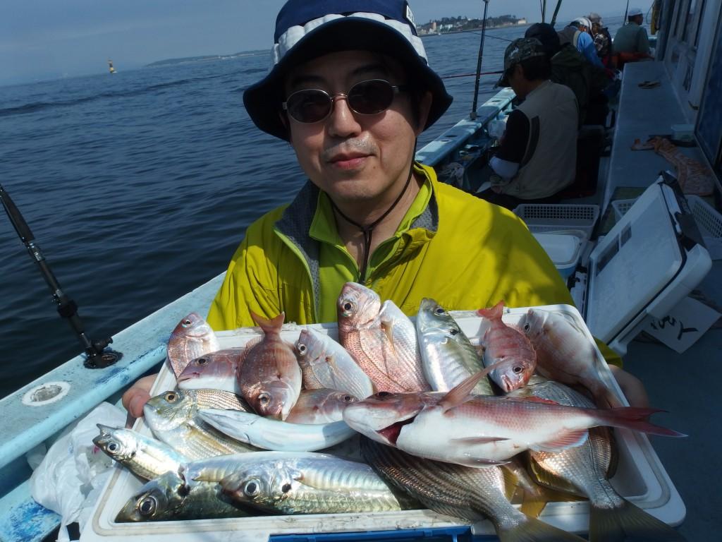 良く釣れましたのでもう一回、五目釣果を!