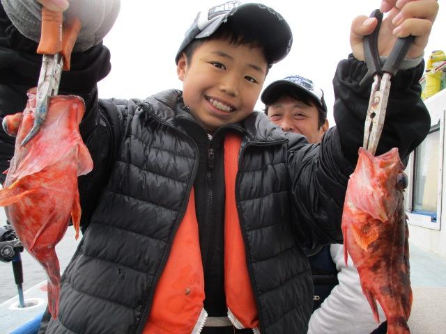 釣りボ-イもご満悦!